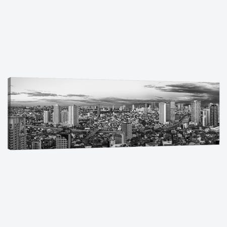 Elevated View Of Skylines In A City, Makati, Metro Manila, Manila, Philippines Canvas Print #PIM15126} by Panoramic Images Canvas Artwork