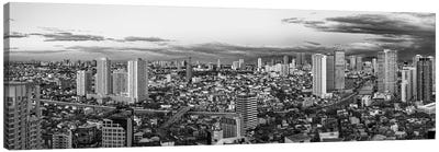 Elevated View Of Skylines In A City, Makati, Metro Manila, Manila, Philippines Canvas Art Print