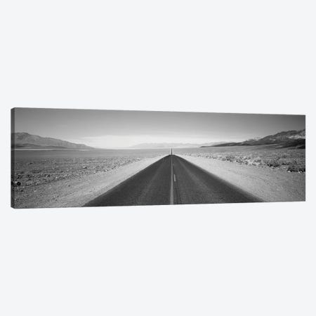 Empty Highway In Death Valley, California, USA Canvas Print #PIM15127} by Panoramic Images Canvas Artwork