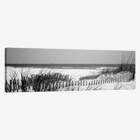 Fence On The Beach, Bon Secour National Wildlife Refuge, Gulf Of Mexico, Bon Secour, Baldwin County, Alabama, USA Canvas Print #PIM15129} by Panoramic Images Canvas Art Print