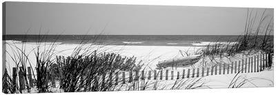 Fence On The Beach, Bon Secour National Wildlife Refuge, Gulf Of Mexico, Bon Secour, Baldwin County, Alabama, USA Canvas Art Print
