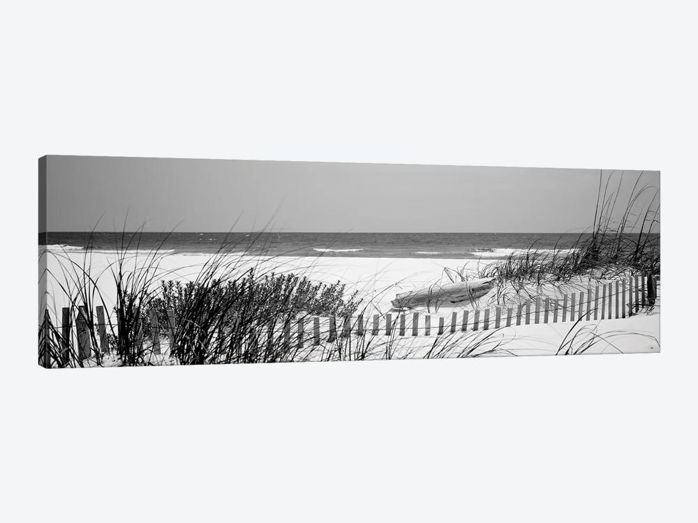 Fence On The Beach, Bon Secour National Wildlife Refuge, Gulf Of Mexico, Bon Secour, Baldwin County, Alabama, USA by Panoramic Images 1-piece Canvas Art