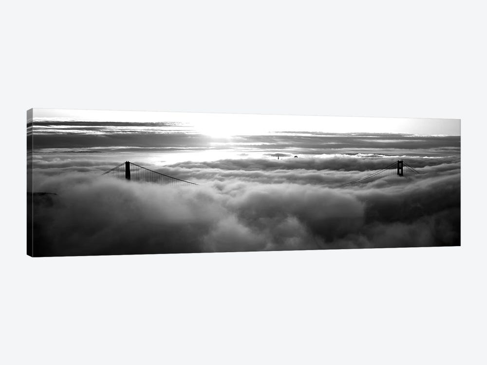 Golden Gate Bridge Covered With Fog Viewed From Hawk Hill, San Francisco Bay, San Francisco, California, USA by Panoramic Images 1-piece Art Print