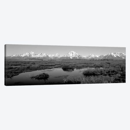 Grand Teton Park, Wyoming, USA I 3-Piece Canvas #PIM15137} by Panoramic Images Canvas Art Print
