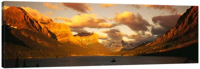 Saint Mary Lake & Lewis Range, Glacier Bay National Park, Montana, USA Canvas Art Print