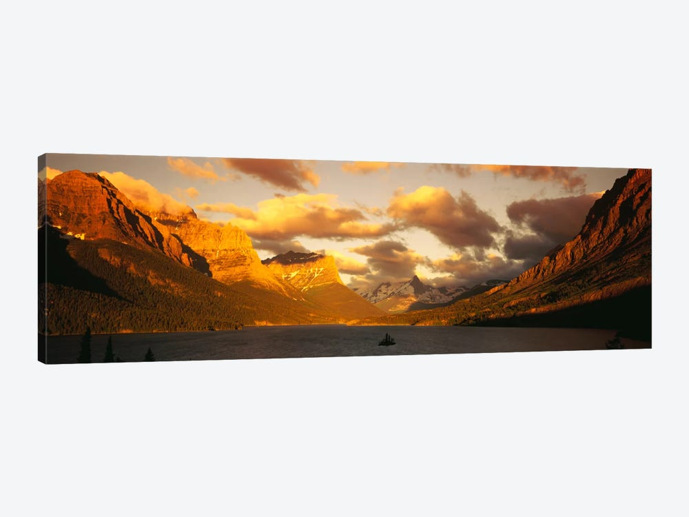 Saint Mary Lake & Lewis Range, Glacier Bay National Park, Montana, USA by Panoramic Images 1-piece Canvas Art