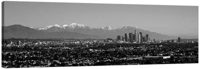 High-Angle View Of A City, Los Angeles, California, USA Canvas Art Print