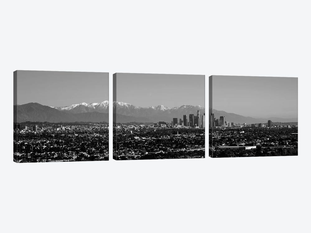 High-Angle View Of A City, Los Angeles, California, USA by Panoramic Images 3-piece Canvas Art Print