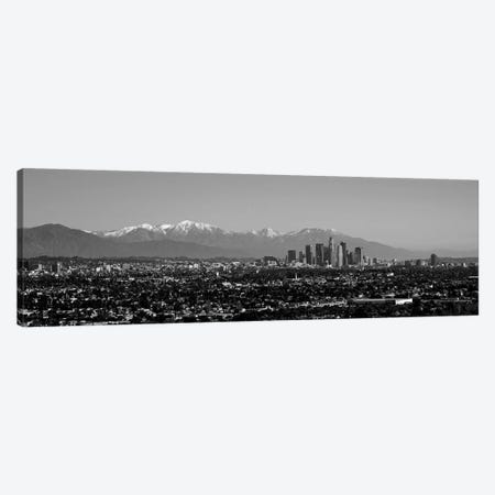 High-Angle View Of A City, Los Angeles, California, USA 3-Piece Canvas #PIM15142} by Panoramic Images Art Print