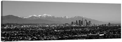 High-Angle View Of A City, Los Angeles, California, USA Canvas Art Print