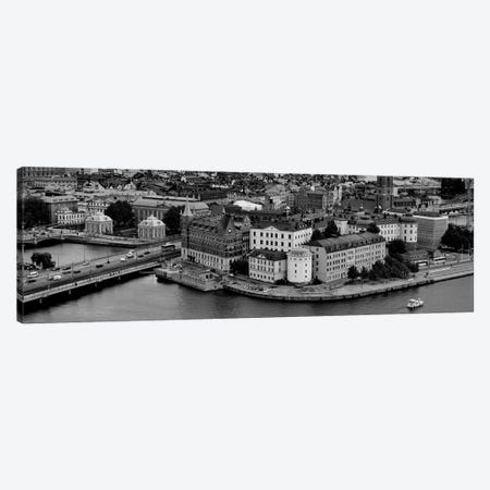 High-Angle View Of A City, Stockholm, Sweden 3-Piece Canvas #PIM15143} by Panoramic Images Canvas Print