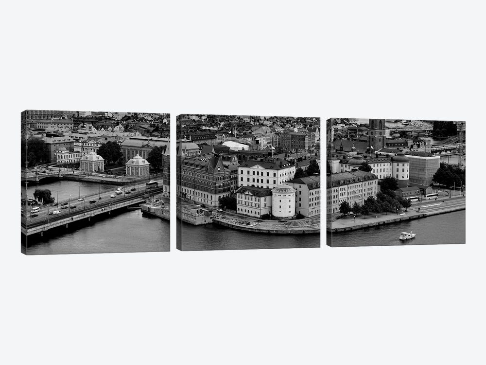 High-Angle View Of A City, Stockholm, Sweden by Panoramic Images 3-piece Canvas Artwork