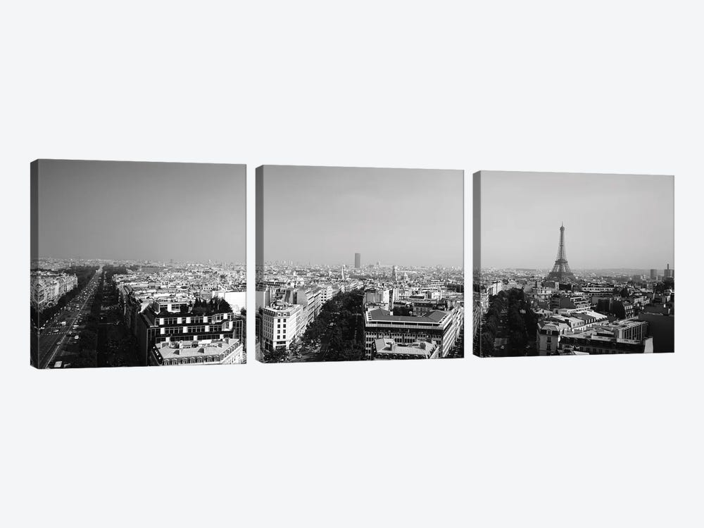 High-Angle View Of A Cityscape, Paris, France by Panoramic Images 3-piece Canvas Artwork