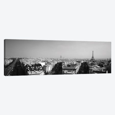High-Angle View Of A Cityscape, Paris, France 3-Piece Canvas #PIM15145} by Panoramic Images Canvas Art