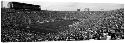 High-Angle View Of A Football Stadium Full Of Spectators, Notre Dame Stadium, South Bend, Indiana, USA Canvas Art Print