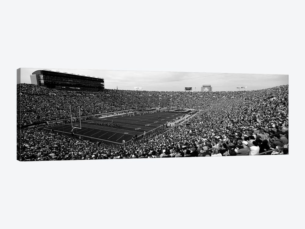High-Angle View Of A Football Stadium Full Of Spectators, Notre Dame Stadium, South Bend, Indiana, USA by Panoramic Images 1-piece Art Print