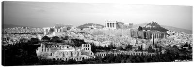 High-Angle View Of Buildings In A City, Acropolis, Athens, Greece Canvas Art Print