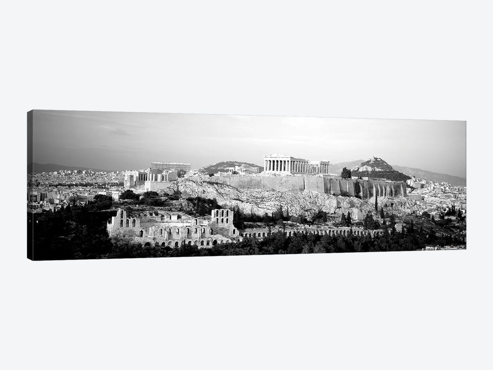 High-Angle View Of Buildings In A City, Acropolis, Athens, Greece by Panoramic Images 1-piece Canvas Artwork