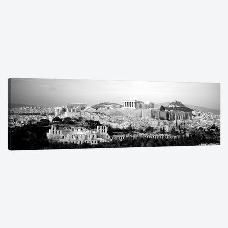 High-Angle View Of Buildings In A City, Acropolis, Athens, Greece 3-Piece Canvas #PIM15147} by Panoramic Images Canvas Artwork