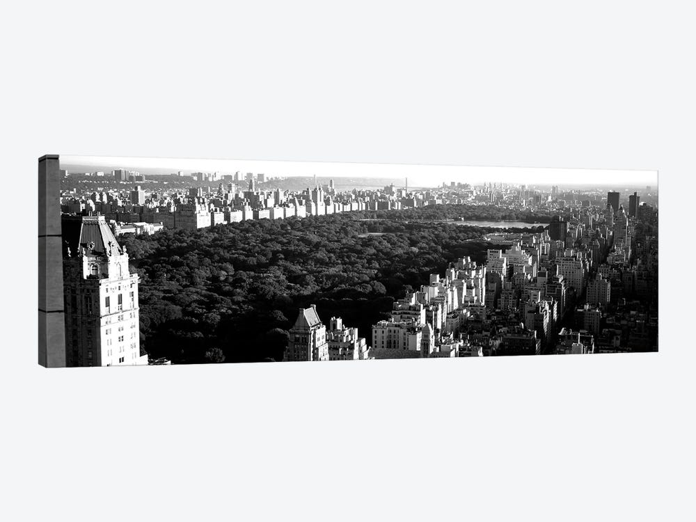 High-Angle View Of Buildings In A City, Central Park, Manhattan, New York City, New York State, USA by Panoramic Images 1-piece Art Print