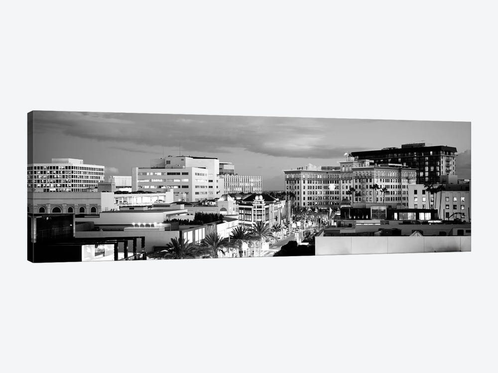 High-Angle View Of Buildings In A City, Rodeo Drive, Beverly Hills, California, USA by Panoramic Images 1-piece Canvas Art