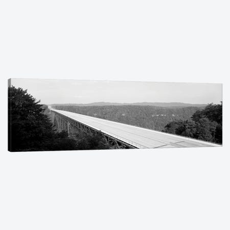 High-Angle View Of New River Gorge Bridge, Route 19, West Virginia, USA Canvas Print #PIM15151} by Panoramic Images Canvas Artwork