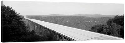 High-Angle View Of New River Gorge Bridge, Route 19, West Virginia, USA Canvas Art Print