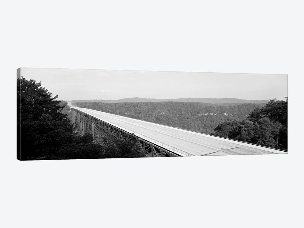 High-Angle View Of New River Gorge Bridge, Route 19, West Virginia, USA by Panoramic Images 1-piece Art Print
