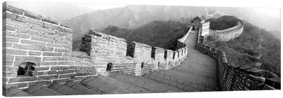 High-Angle View Of The Great Wall Of China, Mutianyu, China I Canvas Art Print