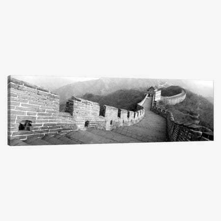High-Angle View Of The Great Wall Of China, Mutianyu, China I 3-Piece Canvas #PIM15152} by Panoramic Images Canvas Artwork