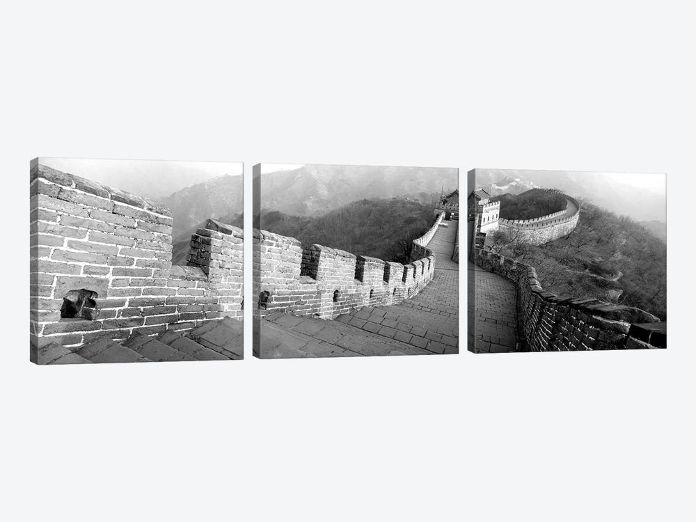 High-Angle View Of The Great Wall Of China, Mutianyu, China I by Panoramic Images 3-piece Canvas Art