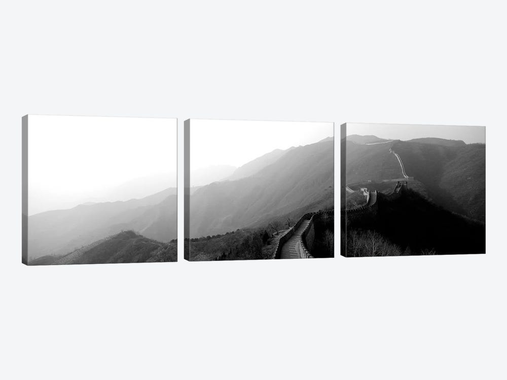 High-Angle View Of The Great Wall Of China, Mutianyu, China II by Panoramic Images 3-piece Canvas Print