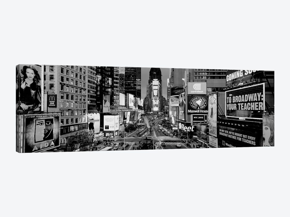 High-Angle View Of Traffic On A Road, Times Square, Manhattan, New York City, New York State, USA by Panoramic Images 1-piece Canvas Art