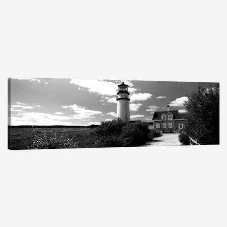 Highland Light Lighthouse, Cape Cod National Seashore, North Truro, Barnstable County, Massachusetts, USA 3-Piece Canvas #PIM15155} by Panoramic Images Art Print
