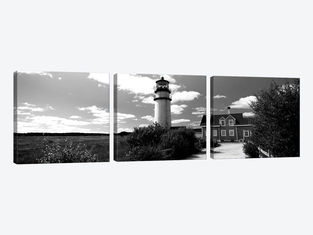 Highland Light Lighthouse, Cape Cod National Seashore, North Truro, Barnstable County, Massachusetts, USA by Panoramic Images 3-piece Art Print