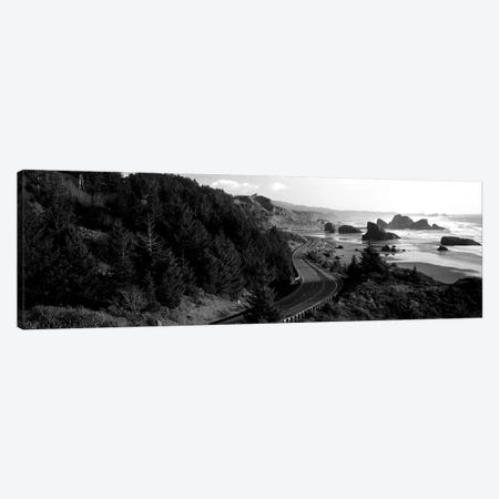 Highway Along A Coast, Highway 101, Pacific Coastline, Oregon, USA Canvas Print #PIM15156} by Panoramic Images Canvas Print