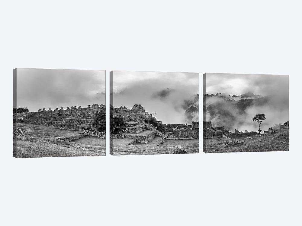 Inca City Of Machu Picchu, Urubamba Province, Cusco, Peru by Panoramic Images 3-piece Canvas Art