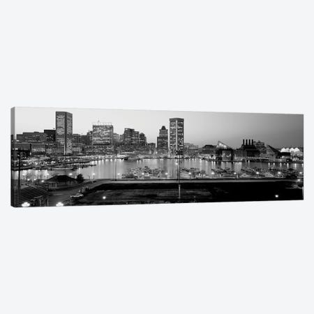 Inner Harbor, Baltimore, Maryland, USA 3-Piece Canvas #PIM15159} by Panoramic Images Canvas Wall Art