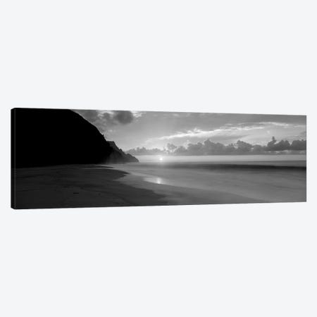 Kalalau Beach Sunset, Na Pali Coast, Hawaii, USA Canvas Print #PIM15160} by Panoramic Images Canvas Art Print