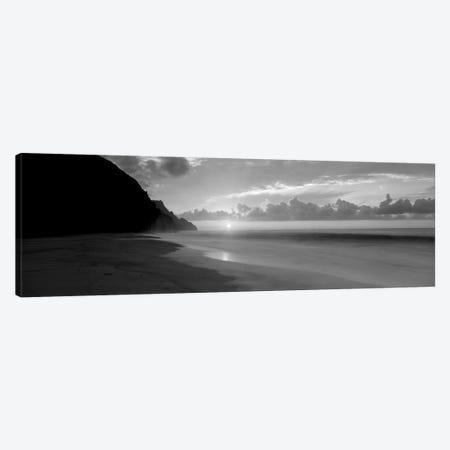 Kalalau Beach Sunset, Na Pali Coast, Hawaii, USA Canvas Print #PIM15160} by Panoramic Images Canvas Art Print