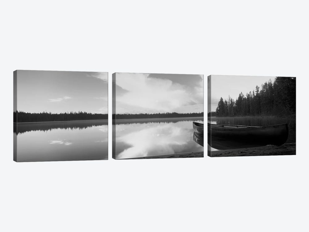 Leigh Lake, Grand Teton Park, Wyoming, USA by Panoramic Images 3-piece Canvas Wall Art