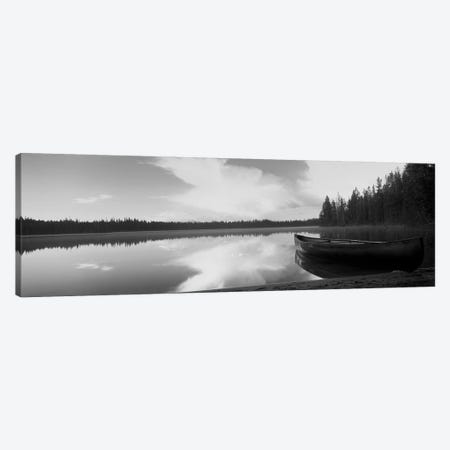 Leigh Lake, Grand Teton Park, Wyoming, USA 3-Piece Canvas #PIM15161} by Panoramic Images Art Print