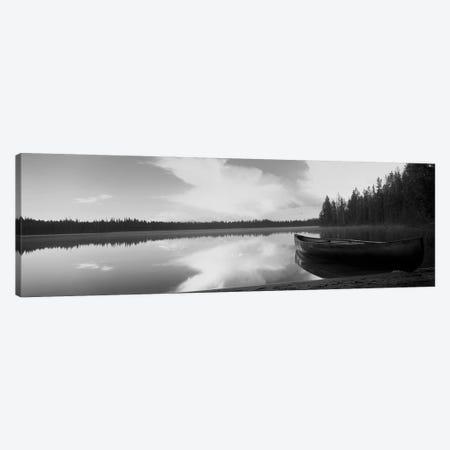 Leigh Lake, Grand Teton Park, Wyoming, USA Canvas Print #PIM15161} by Panoramic Images Art Print