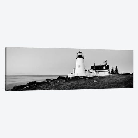 Lighthouse At A Coast, Pemaquid Point Lighthouse, Bristol, Lincoln County, Maine, USA Canvas Print #PIM15162} by Panoramic Images Canvas Print
