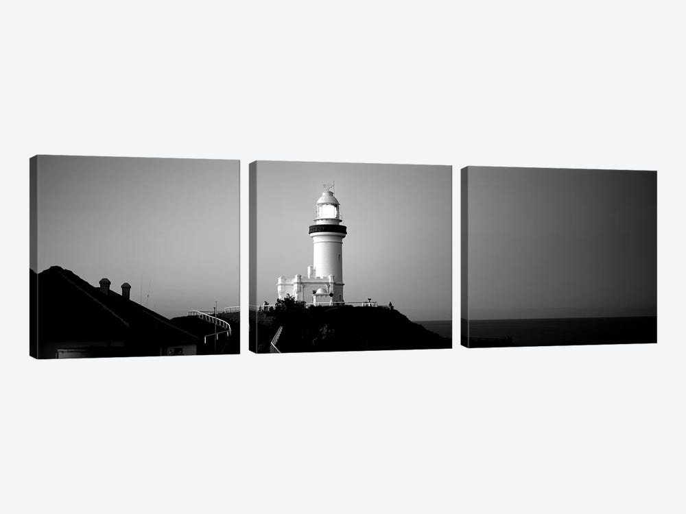 Lighthouse At Dusk, Broyn Bay Light House, New South Wales, Australia 3-piece Canvas Wall Art