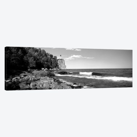 Lighthouse On A Cliff, Split Rock Lighthouse, Lake Superior, Minnesota, USA 3-Piece Canvas #PIM15164} by Panoramic Images Canvas Artwork