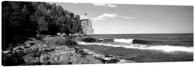Lighthouse On A Cliff, Split Rock Lighthouse, Lake Superior, Minnesota, USA Canvas Art Print