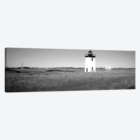 Lighthouse On The Beach, Long Point Light, Long Point, Provincetown, Cape Cod, Barnstable County, Massachusetts, USA 3-Piece Canvas #PIM15165} by Panoramic Images Canvas Art