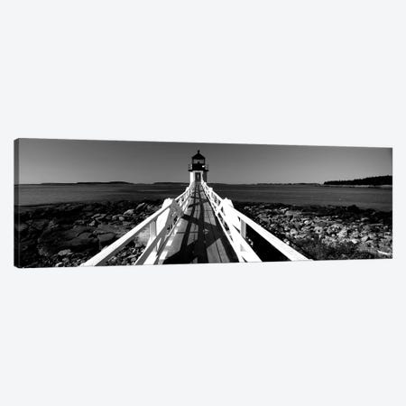 Lighthouse On The Coast, Marshall Point Lighthouse, Built 1832, Rebuilt 1858, Port Clyde, Maine, USA Canvas Print #PIM15166} by Panoramic Images Canvas Art