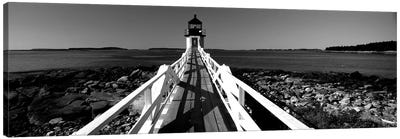 Lighthouse On The Coast, Marshall Point Lighthouse, Built 1832, Rebuilt 1858, Port Clyde, Maine, USA Canvas Art Print